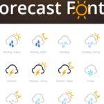Forecast Font – Iconos de pronóstico de tiempo con CSS