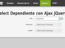 select dependiente